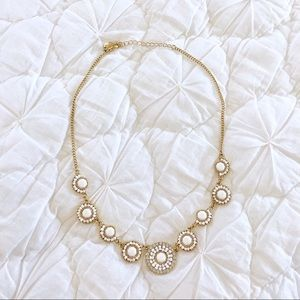 NWOT Charming Charlie's Gold Beaded Necklace
